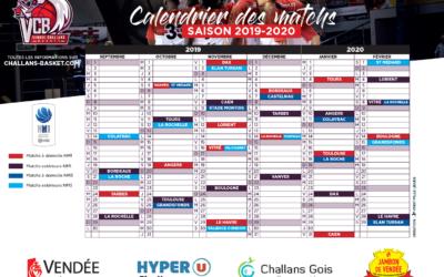 Calendrier NM1 / NM3 saison 2019/2020